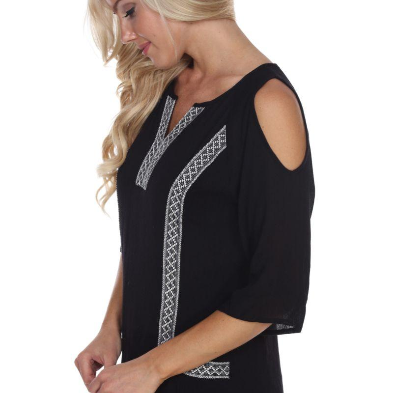 Robe brodée Marybeth pour femme par Whitemark-Black-L-Daily Steals