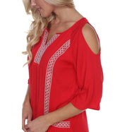 Robe brodée Marybeth pour femme par Whitemark-Red-M-Daily Steals