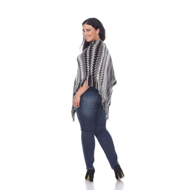 Women's Mesila' Fringe Poncho By White Mark-Daily Steals