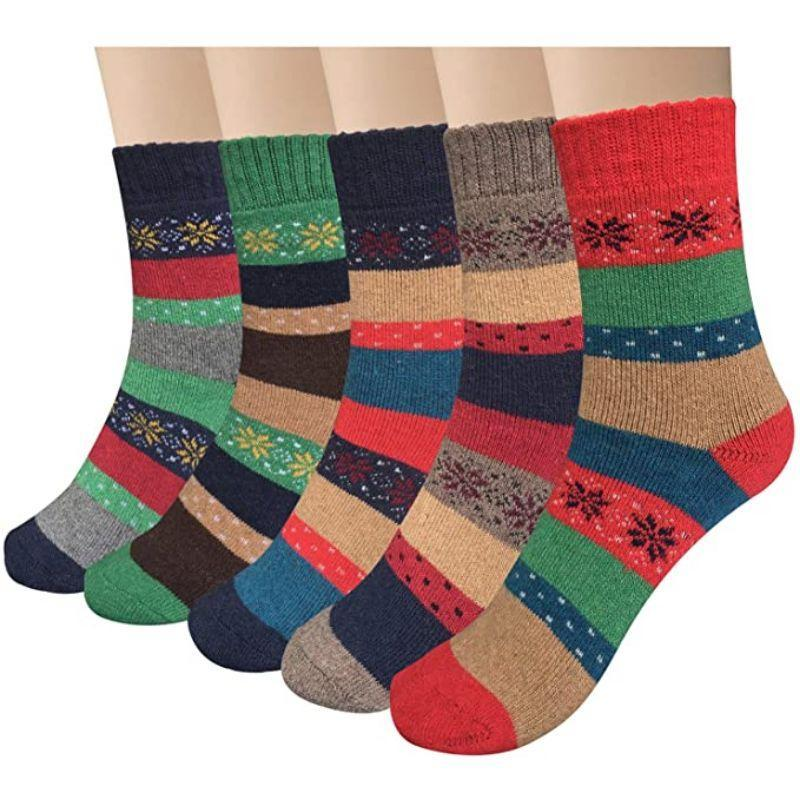 Womens Mystery Pack Winter Knitted Warm Cozy Socks-3 Pack-