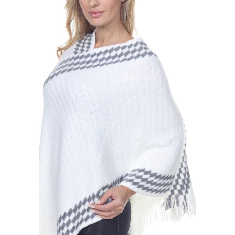 Women's Nevaeh Poncho By White Mark-Daily Steals