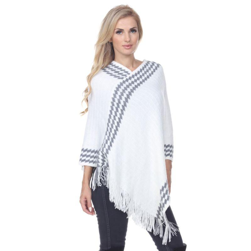 Women's Nevaeh Poncho By White Mark-Ivory-One Size Regular-Daily Steals