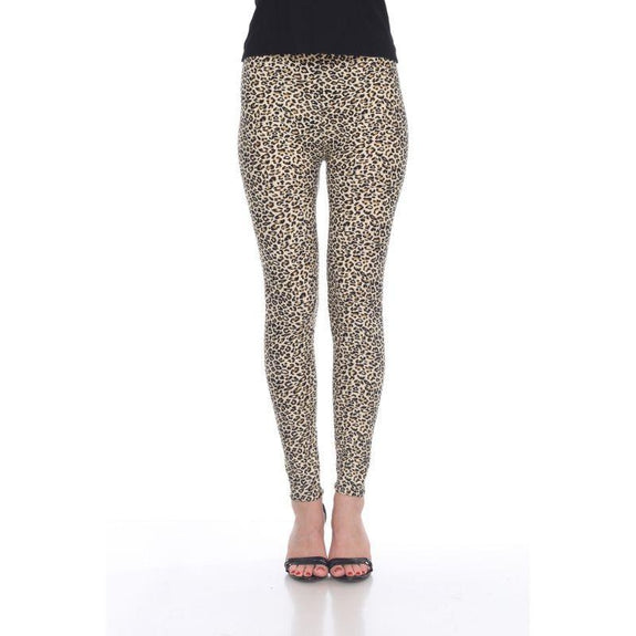 Women's One Size Fits Most Printed Leggings by Whitemark-Brown Cheetah-Daily Steals