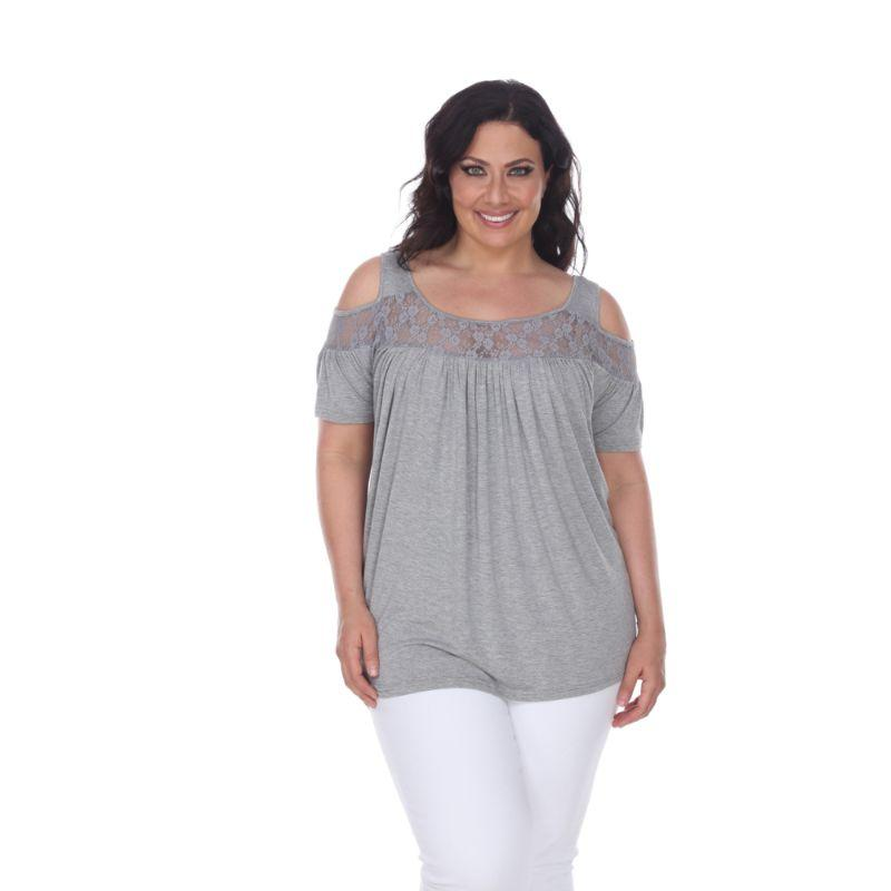 Women's Plus Bexley Tunic Top by Whitemark-Charcoal-4X-Daily Steals