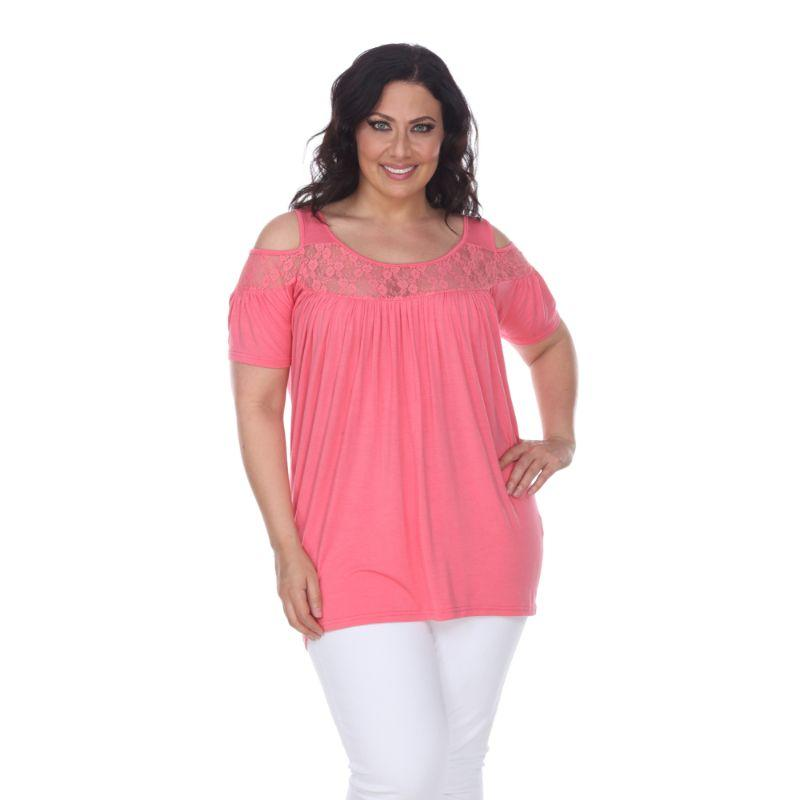 Women's Plus Bexley Tunic Top by Whitemark-Coral-1X-Daily Steals