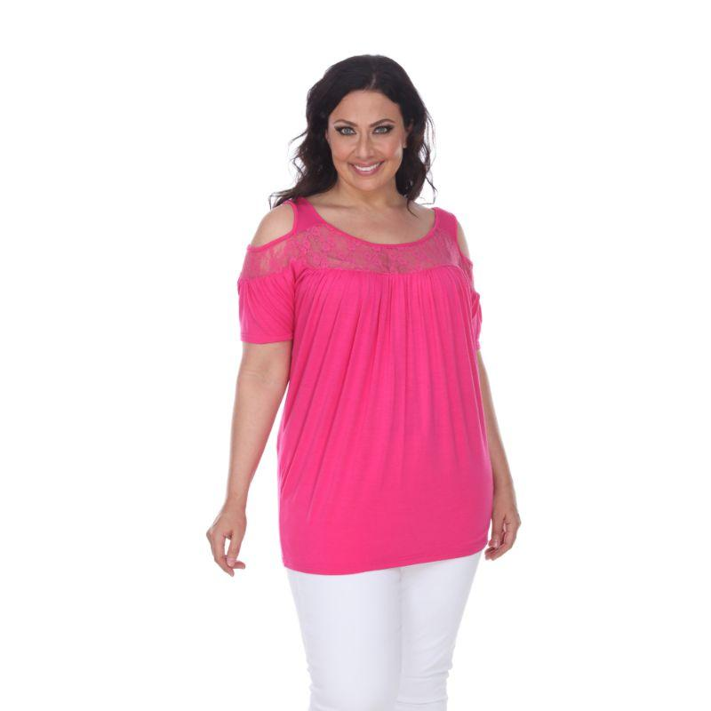 Women's Plus Bexley Tunic Top by Whitemark-Fuchsia-3X-Daily Steals