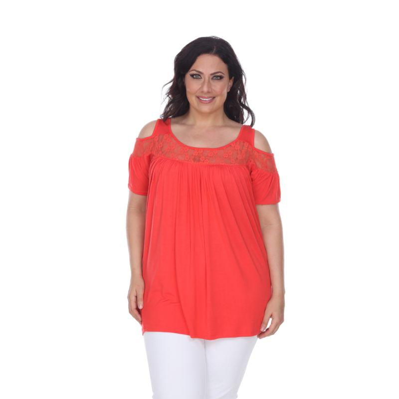 Women's Plus Bexley Tunic Top by Whitemark-Red-2X-Daily Steals