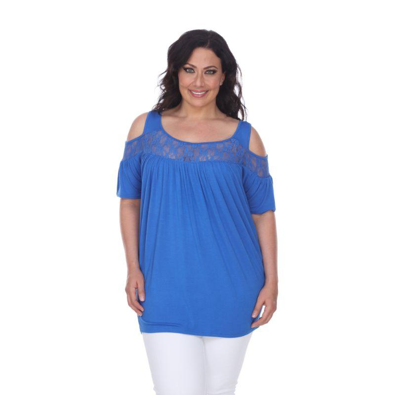 Women's Plus Bexley Tunic Top by Whitemark-Royal Blue-4X-Daily Steals