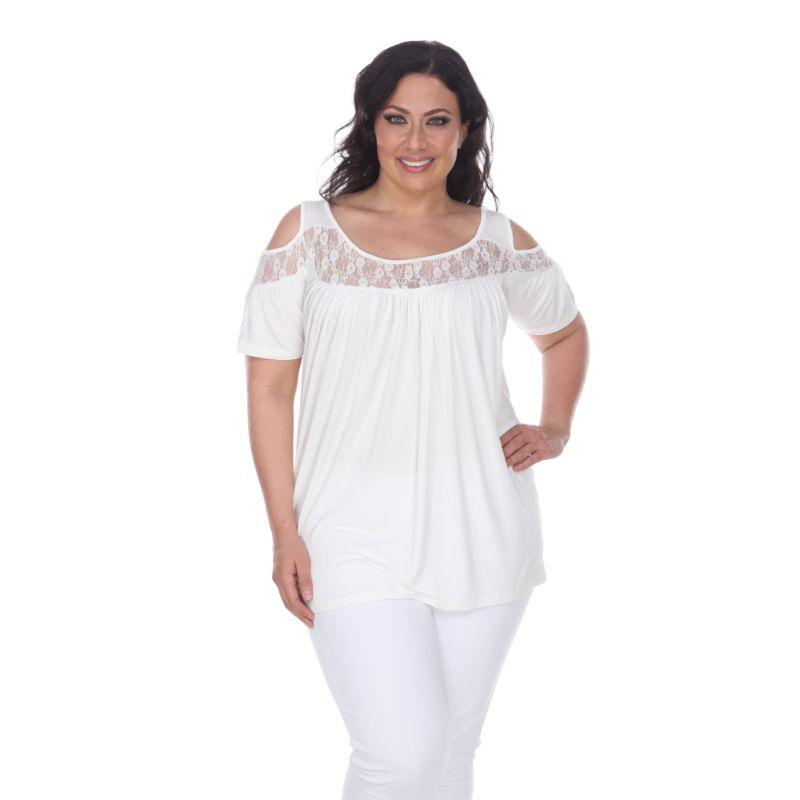 Women's Plus Bexley Tunic Top by Whitemark-White-3X-Daily Steals