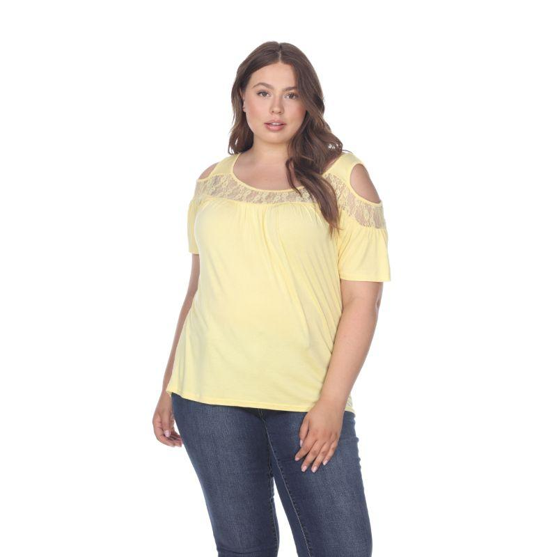 Women's Plus Bexley Tunic Top by Whitemark-Yellow-1X-Daily Steals
