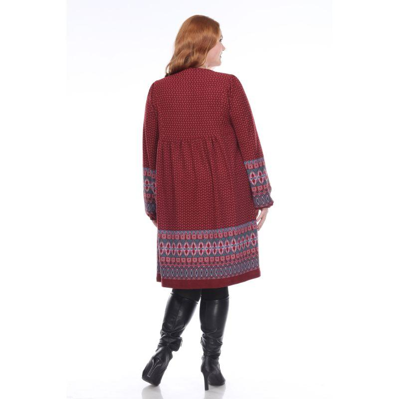 Women's Plus Size Atarah Embroidered Sweater Dress by Whitemark-Daily Steals