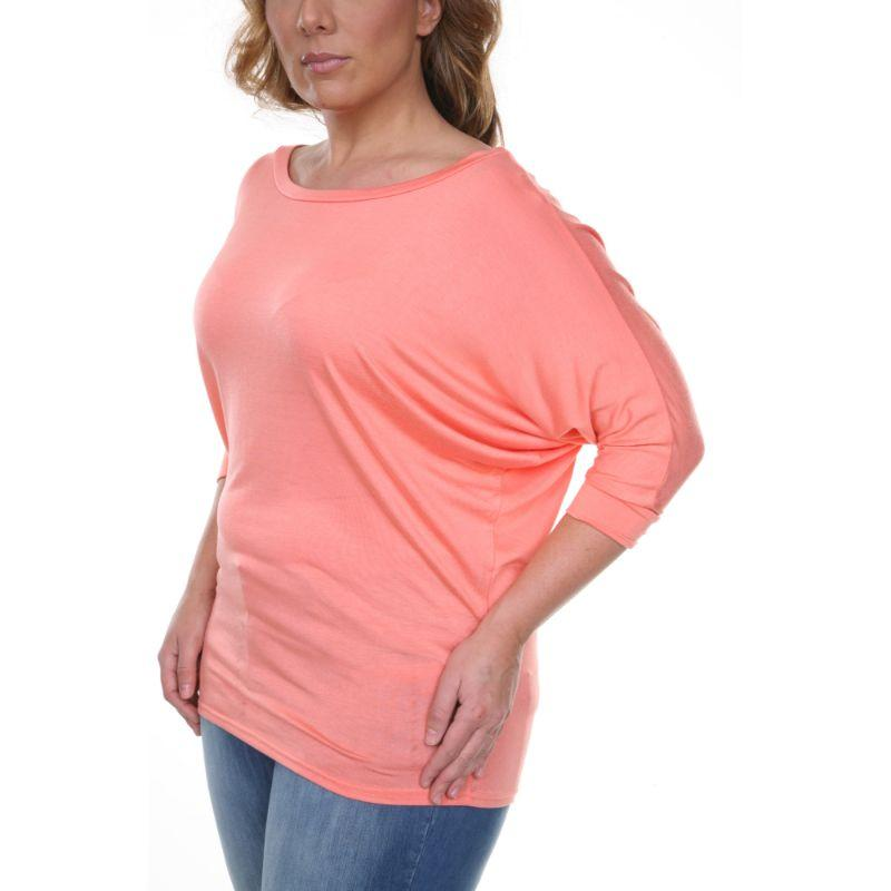 Women's Plus Size Bat Sleeve Tunic Top by Whitemark-Daily Steals