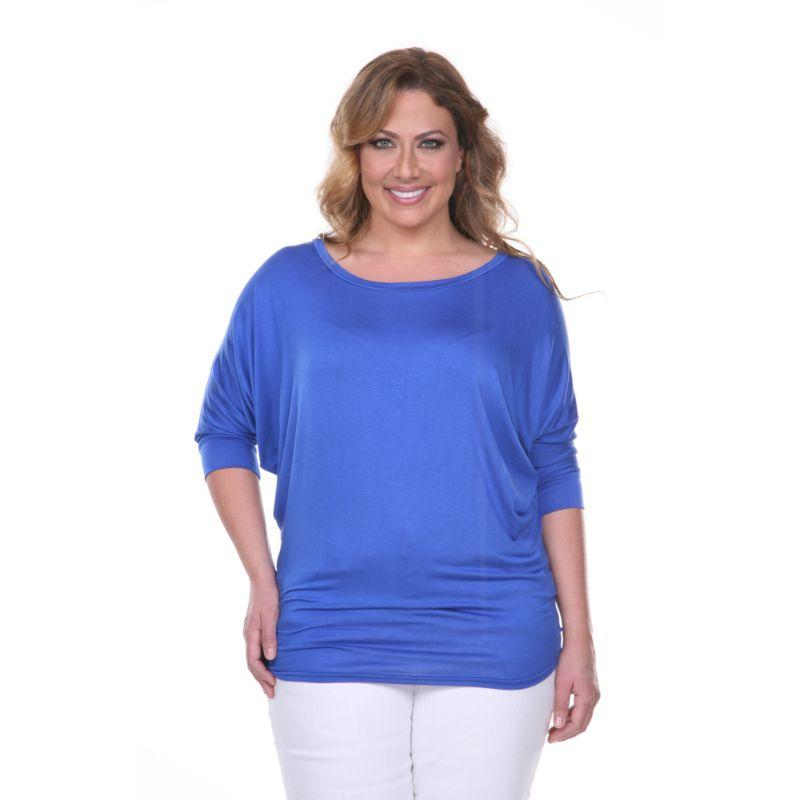 Women's Plus Size Bat Sleeve Tunic Top by Whitemark-Royal-1X-Daily Steals