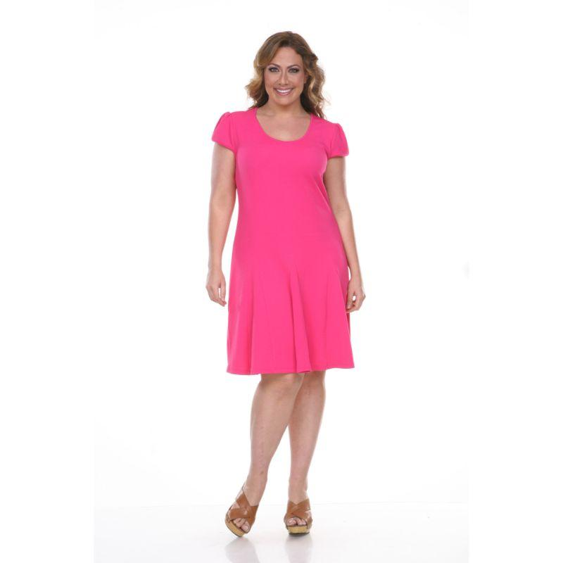 Women's Plus Size Cara Dress by Whitemark-Fuchsia-2X-Daily Steals