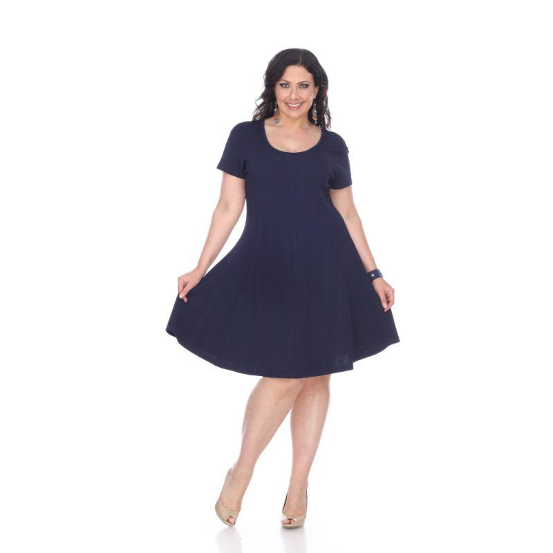 Women's Plus Size Cara Dress by Whitemark-Navy-3X-Daily Steals