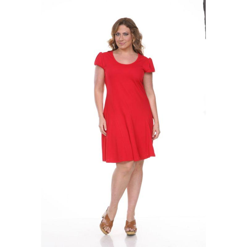 Women's Plus Size Cara Dress by Whitemark-Red-1X-Daily Steals