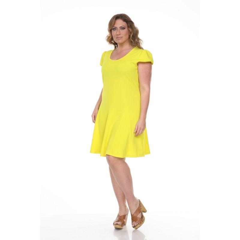 Women's Plus Size Cara Dress by Whitemark-Yellow-1X-Daily Steals
