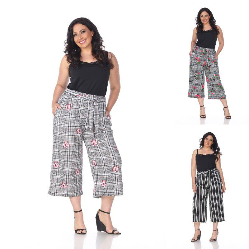 Women's Plus Size Gaucho Pants by Whitemark-Daily Steals