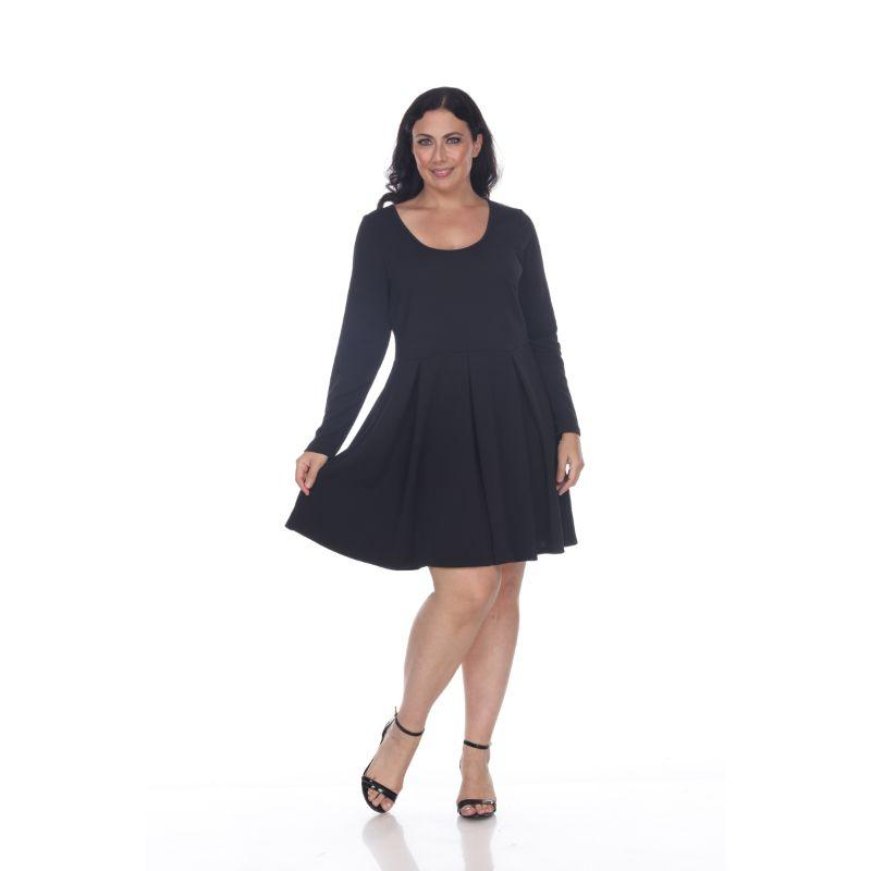 Women's Plus Size Jenara Dress by Whitemark-Black-3X-Daily Steals