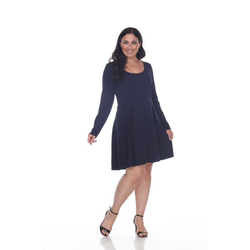 Women's Plus Size Jenara Dress by Whitemark-Navy-3X-Daily Steals