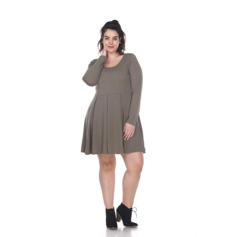 Women's Plus Size Jenara Dress by Whitemark-Olive-1X-Daily Steals