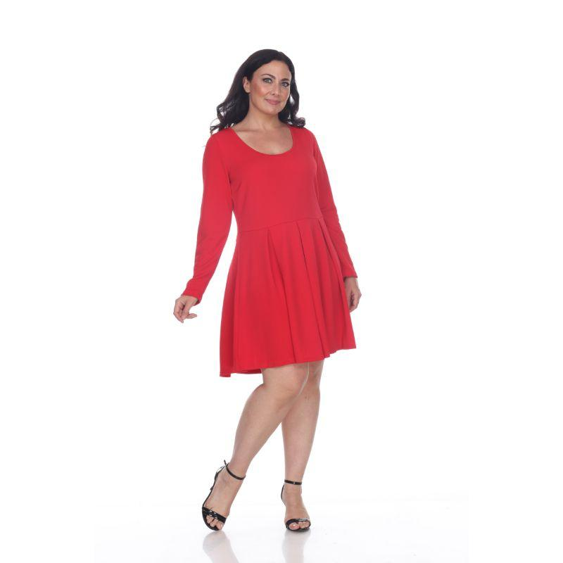 Women's Plus Size Jenara Dress by Whitemark-Red-2X-Daily Steals