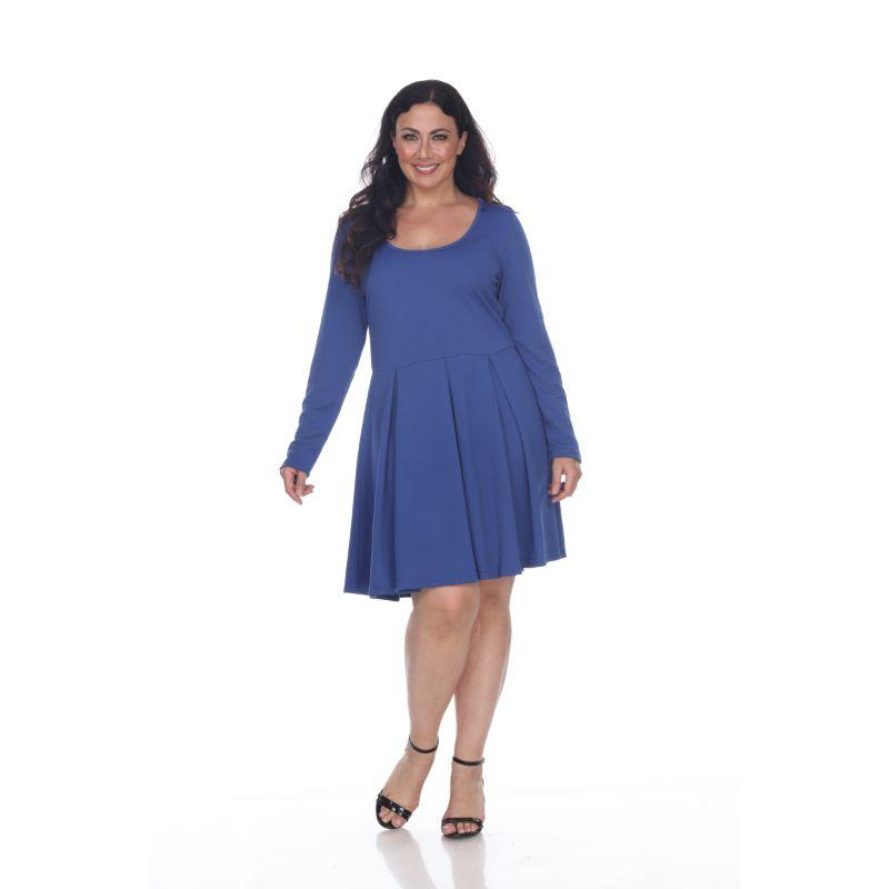 Women's Plus Size Jenara Dress by Whitemark-Royal-1X-Daily Steals