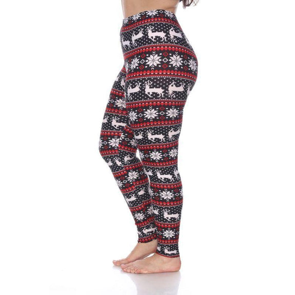 Women's Plus Size One Fits Most Printed Leggings by Whitemark-Daily Steals