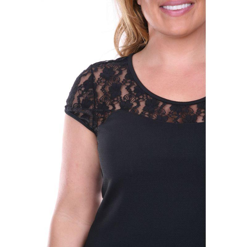 Women's Plus Size 'Pelagia' Dress by Whitemark-Black-1X-Daily Steals