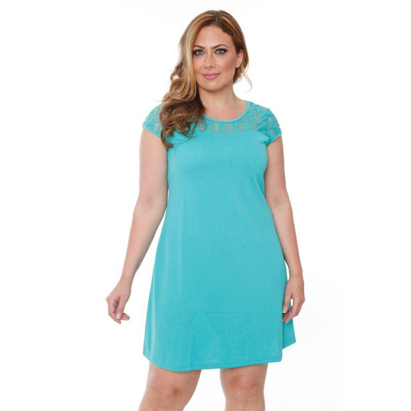 Women's Plus Size 'Pelagia' Dress by Whitemark-Mint-1X-Daily Steals