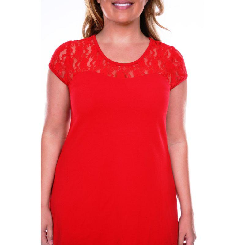 Women's Plus Size 'Pelagia' Dress by Whitemark-Red-1X-Daily Steals