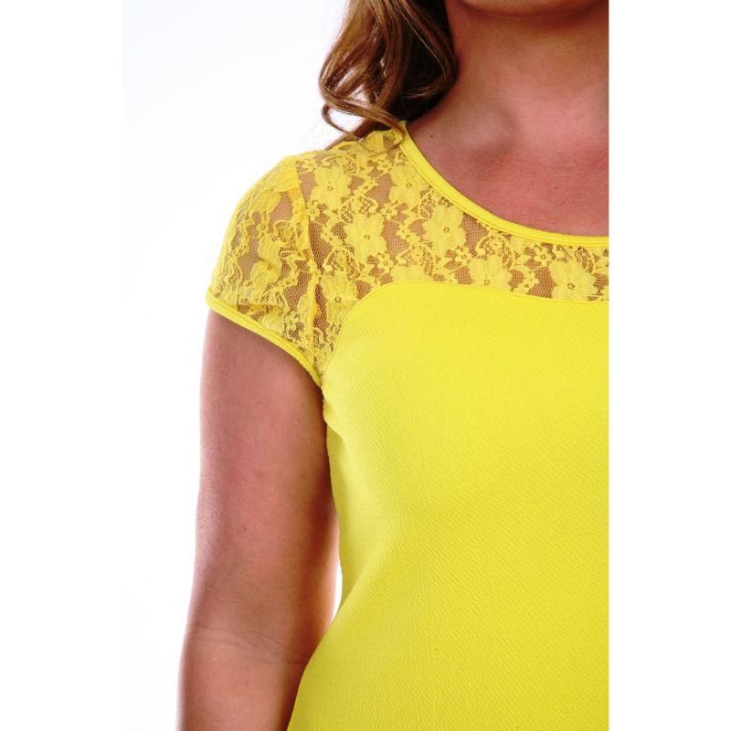 Women's Plus Size 'Pelagia' Dress by Whitemark-Yellow-1X-Daily Steals