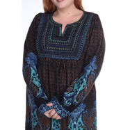 Women's Plus Size Phebe Embroidered Sweater Dress by Whitemark-Daily Steals