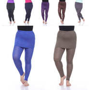 Women's Plus Size Solid Color Skirted Leggings by Whitemark-Daily Steals