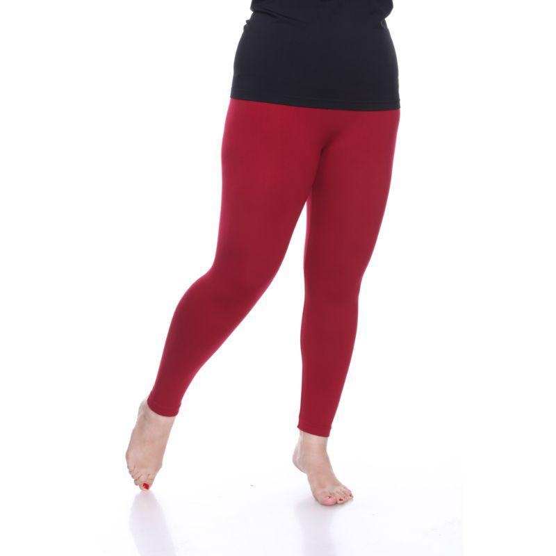 Women's Plus Size Super-Stretch Solid Leggings by Whitemark-Daily Steals