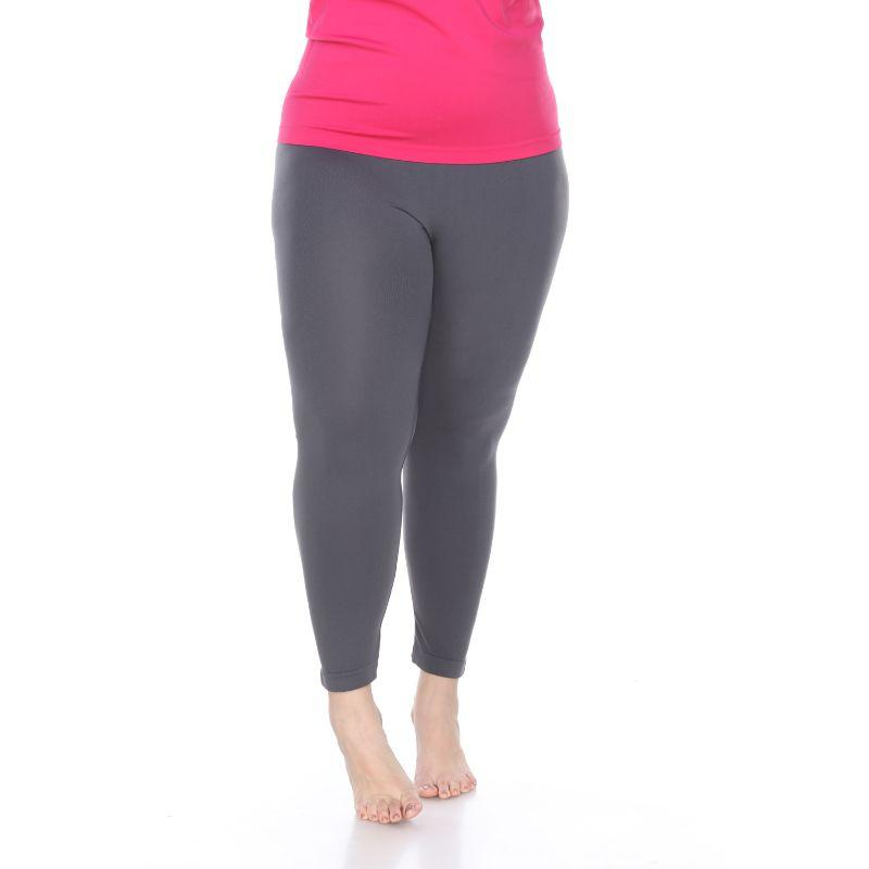 Women's Plus Size Super-Stretch Solid Leggings by Whitemark-Charcoal-Daily Steals