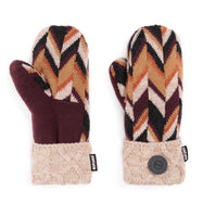 Women's Potholder Mittens by Muk Luks-Plum-Daily Steals