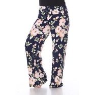 Women's Printed Palazzo Pants - Peach Flower-XL-