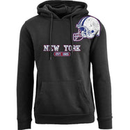 Women's Pro Football Helmet Pull Over Hoodie-New York - Black-M-Daily Steals