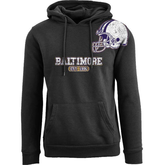 Women's Pro Football Helmet Pull Over Hoodie-Baltimore - Black-M-Daily Steals