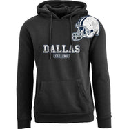 Women's Pro Football Helmet Pull Over Hoodie-Dallas - Black-M-Daily Steals
