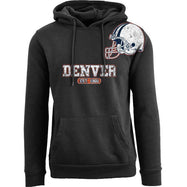 Women's Pro Football Helmet Pull Over Hoodie-Denver - Black-M-Daily Steals