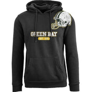 Women's Pro Football Helmet Pull Over Hoodie-Green Bay - Black-M-Daily Steals