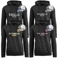 Women's Pro Football Helmet Pull Over Hoodie-Daily Steals