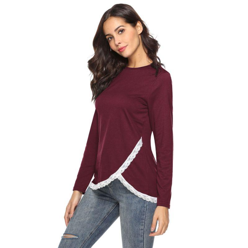 Women's Rounded Lace Bottom Shirt by Lilly Posh-Daily Steals