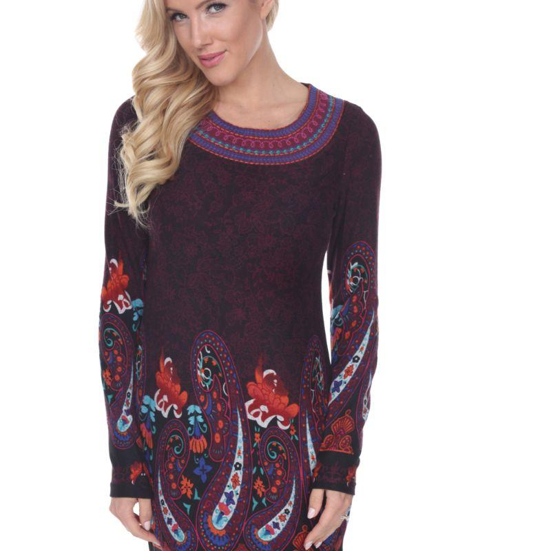 Women's Sandrine Embroidered Sweater Dress by Whitemark-Purple-L-Daily Steals