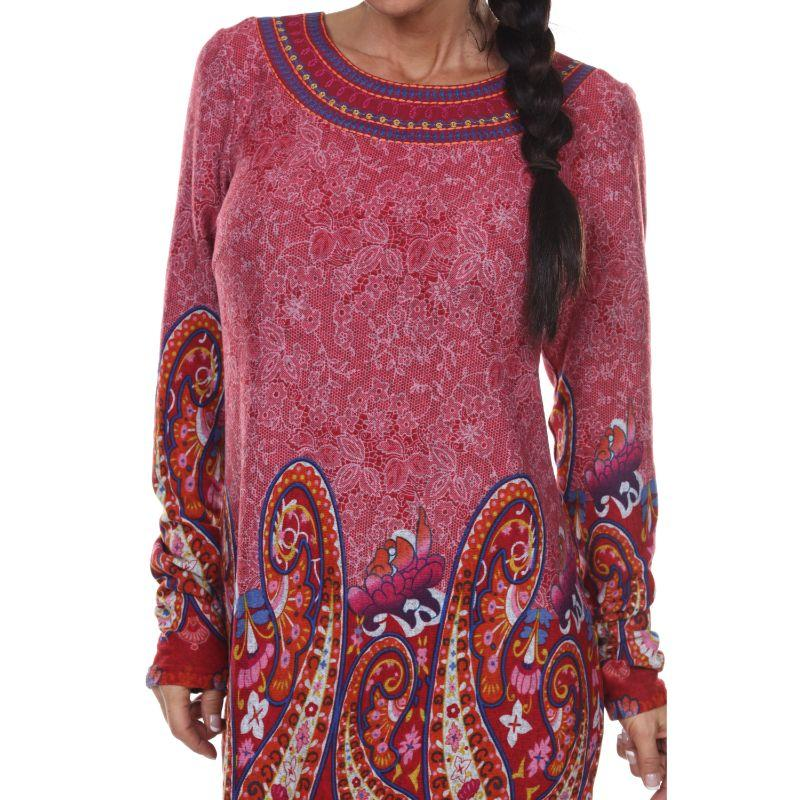 Women's Sandrine Sweater Dress with a Matching Necklace by Whitemark-Daily Steals