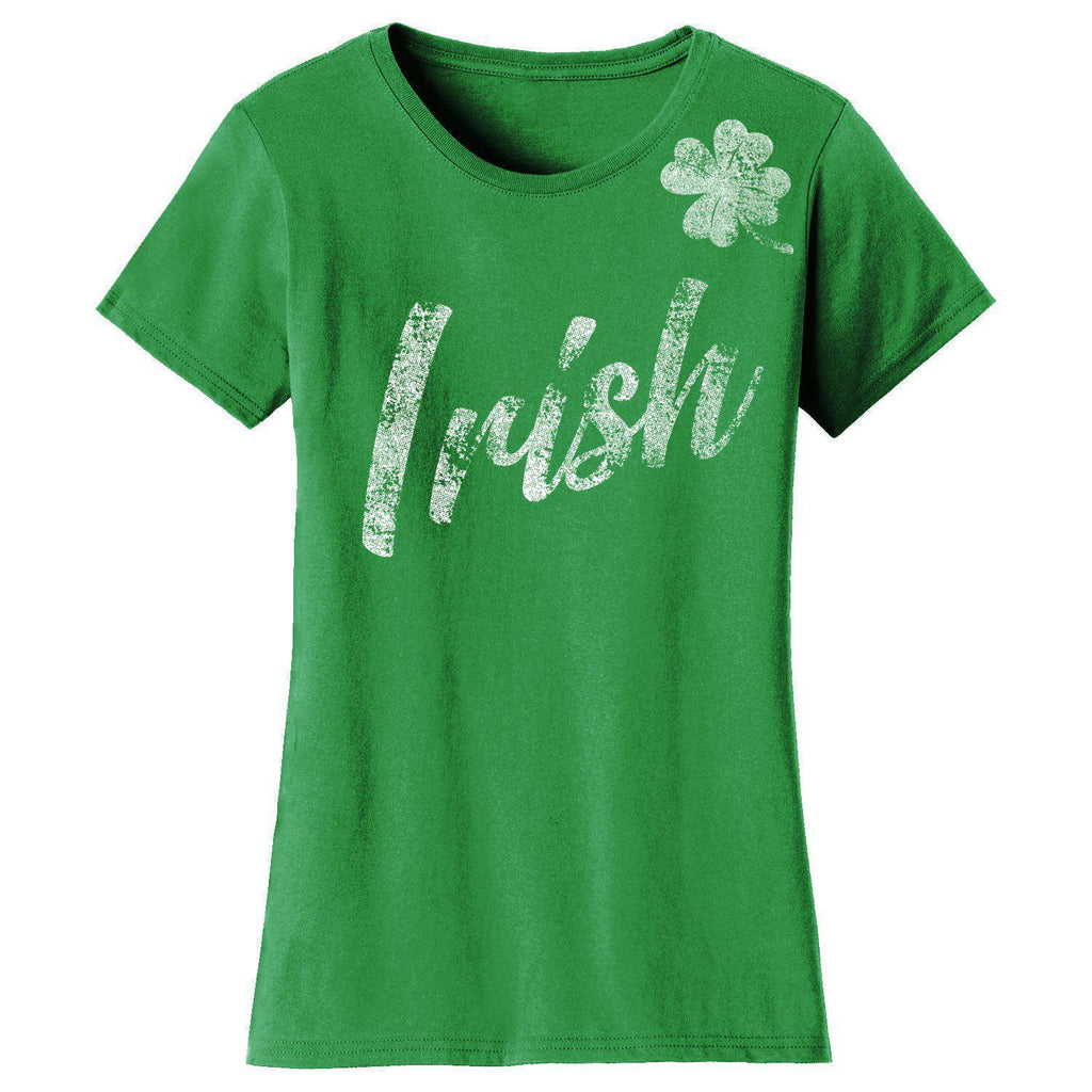 Daily Steals-Women's St. Patrick's Day T-shirts-Women's Apparel-2X-Large-Irish Clover - Kelly Green-