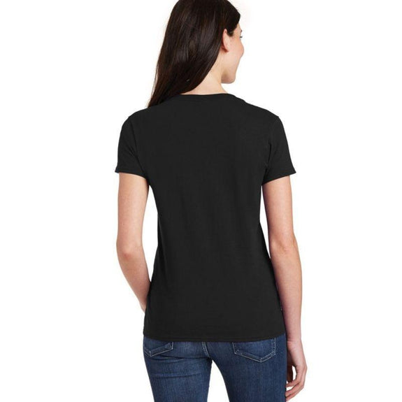 "Women's T-Shirt ""Without Music Life Would Be Flat""-Black-2XL-"