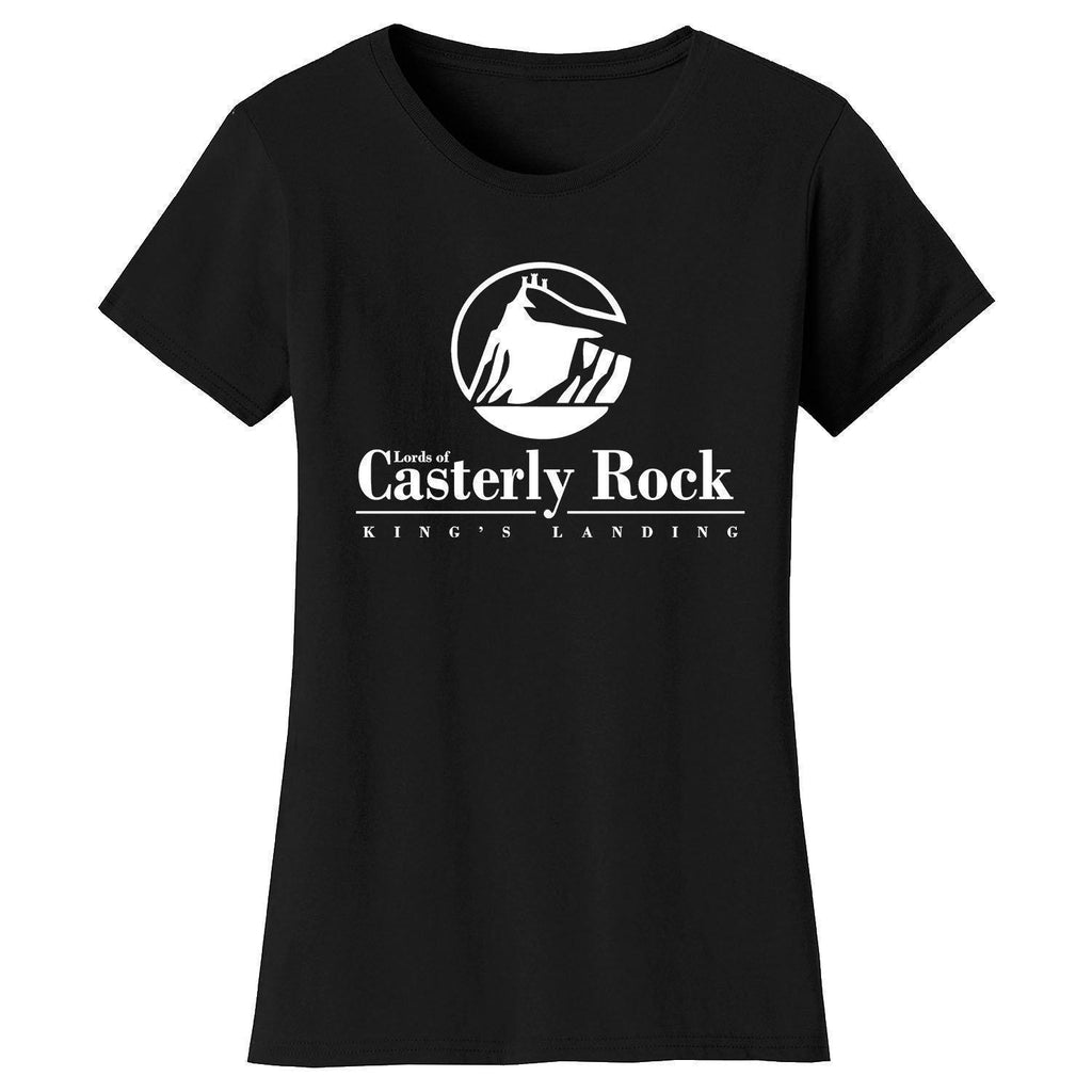 Daily Steals-Women's Thrones and Dragons T-shirts-Women's Apparel-Small-Casterly Rock - Black-